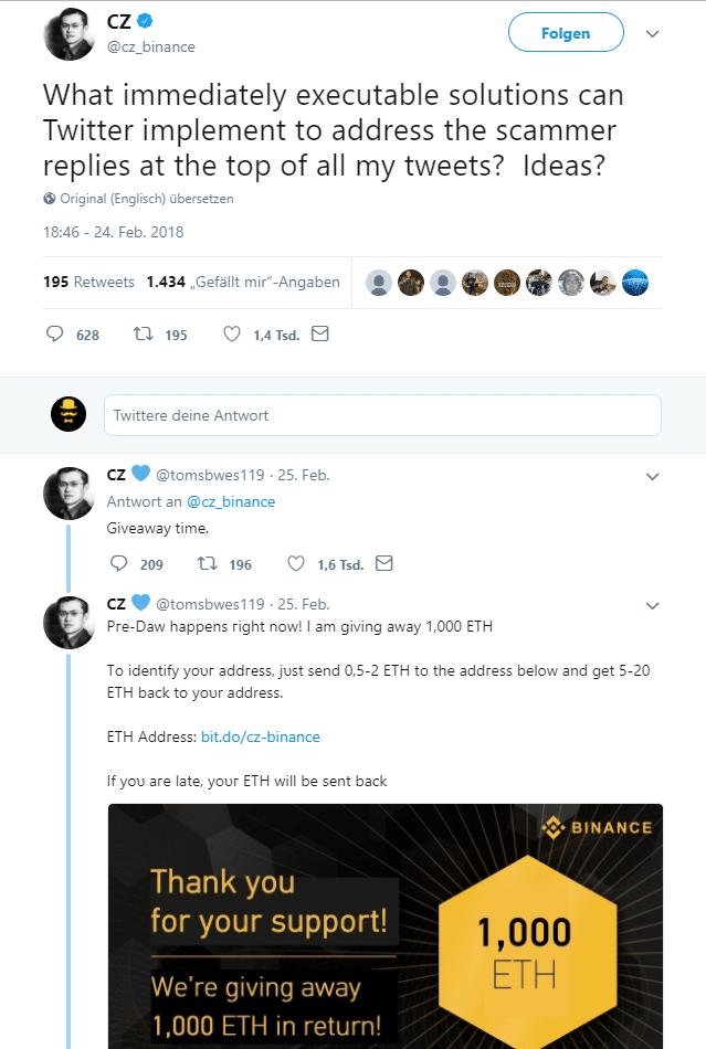 Krypto-Betrug bei Twitter