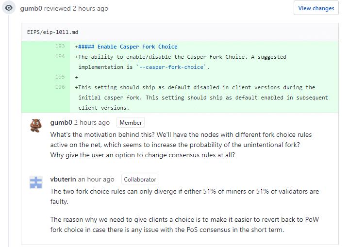 Casper-Fork-Choice auf Github