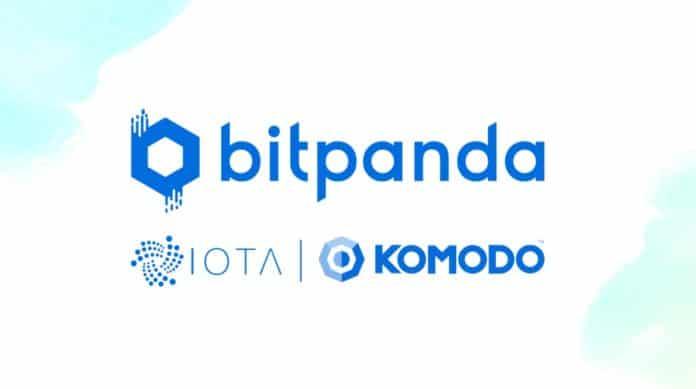 Bitpanda bietet Kauf von Komodo und IOTA gegen Euro