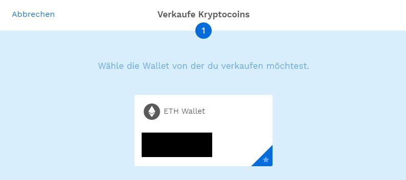 Ethereum verkaufen bei Bitpanda