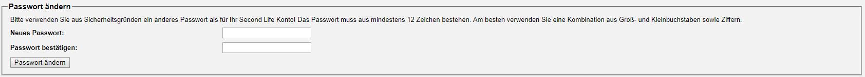 Passwort ändern VirWoX