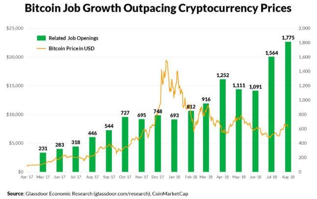 BTC Jobs im Jahresvergleich