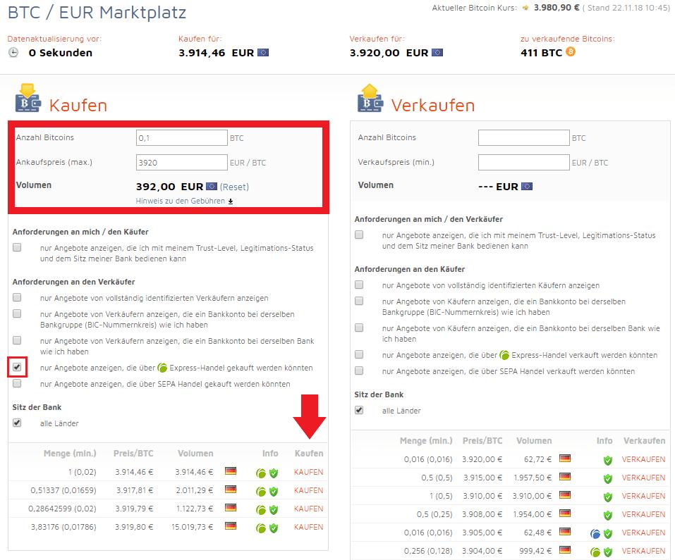 Bitcoin kaufen bei Bitcoin.de