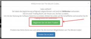 Beginnen Sie mit dem Traden Button