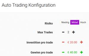 Auto Trading Konfiguration