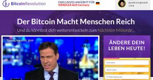 BitcoinRevolution - Der Bitcoin macht Menschen Reich - Landingpage