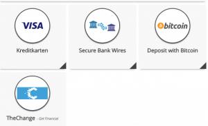 Einzahlungsmöglichkeiten bei Bitcoin Trader