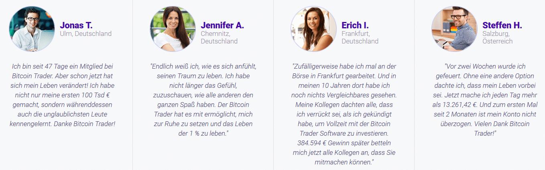 Wie seriös sind Bitcoin Trader - Testimonials