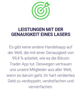 Leistungen mit der Genauigkeit eines Lasers - 99,4% Genauigkeit