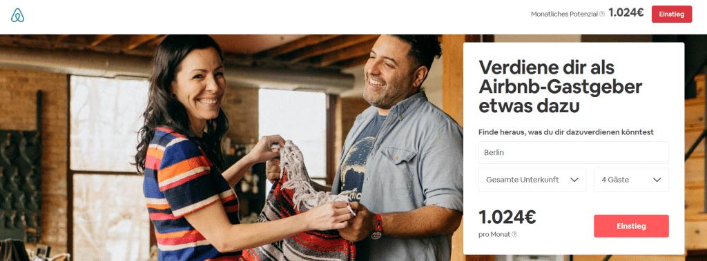 Mit Airbnb Geld verdienen