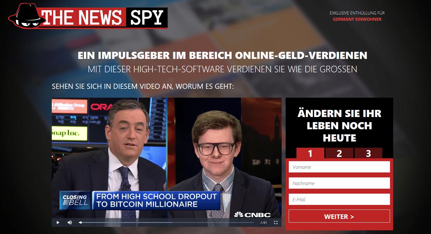 The News Spy - Landingpage