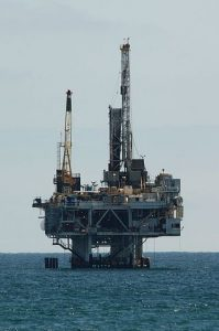 Bohrinsel zur Ölförderung