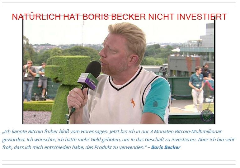Lüge: Boris Becker hat nicht investiert