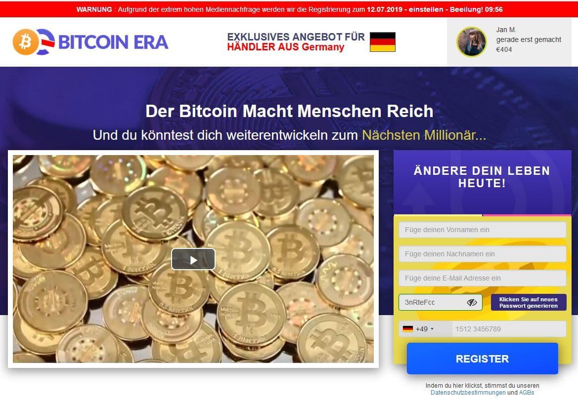 Bitcoin Era Landingpage