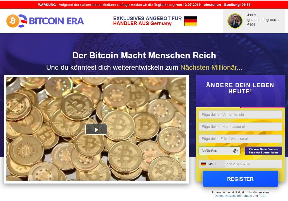 Bitcoin Era Erfahrung