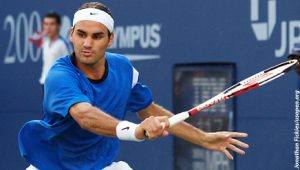 Roger Federer Serve / Aufschlag