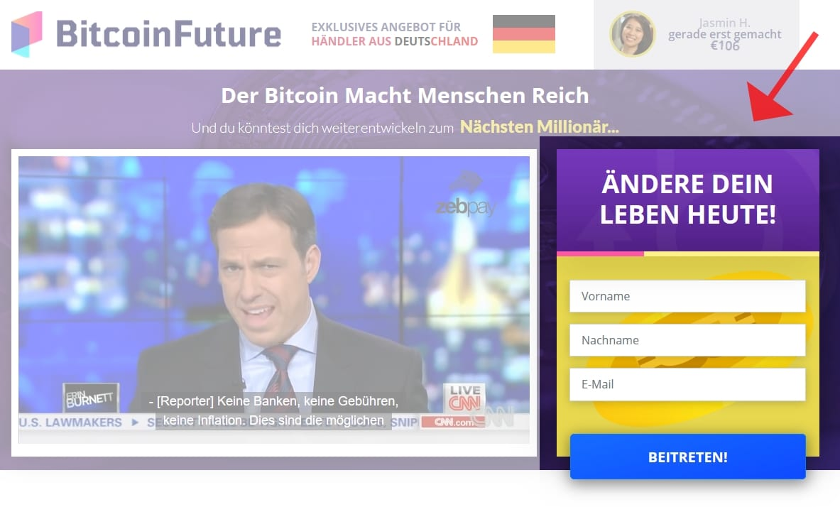 Bitcoin Future Anmeldung