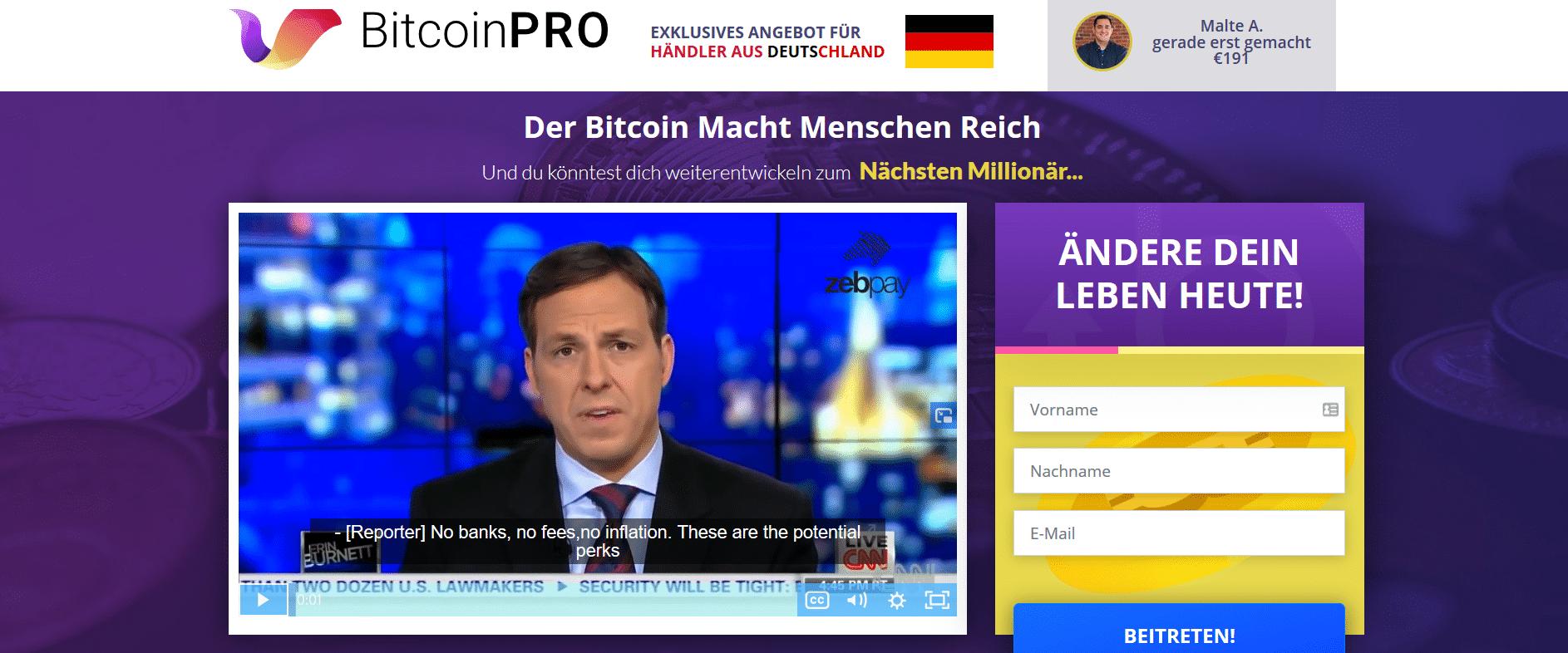 BitcoinPro (Bitcoin Pro) Homepage