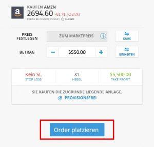 Aktiendepot eröffnen mit Amazon Aktie