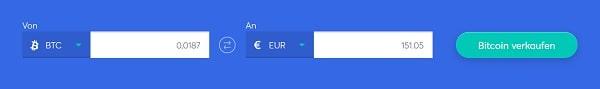 Bitcoin bei Anycoin zu Euro verkaufen