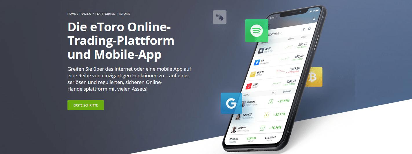 Beste Investment Apps eToro