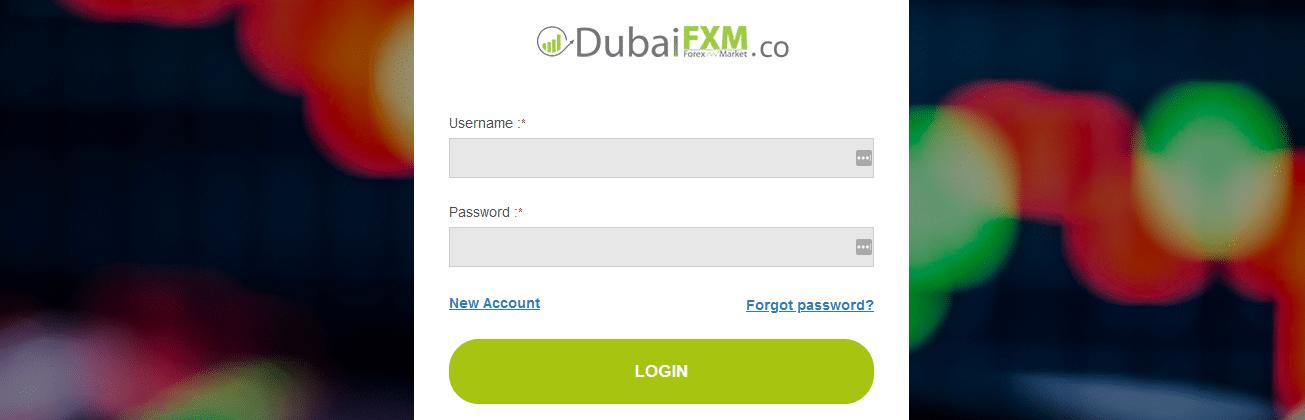 Dubai FXM Anmeldung