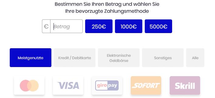 Bitcoin Up Einzahlung