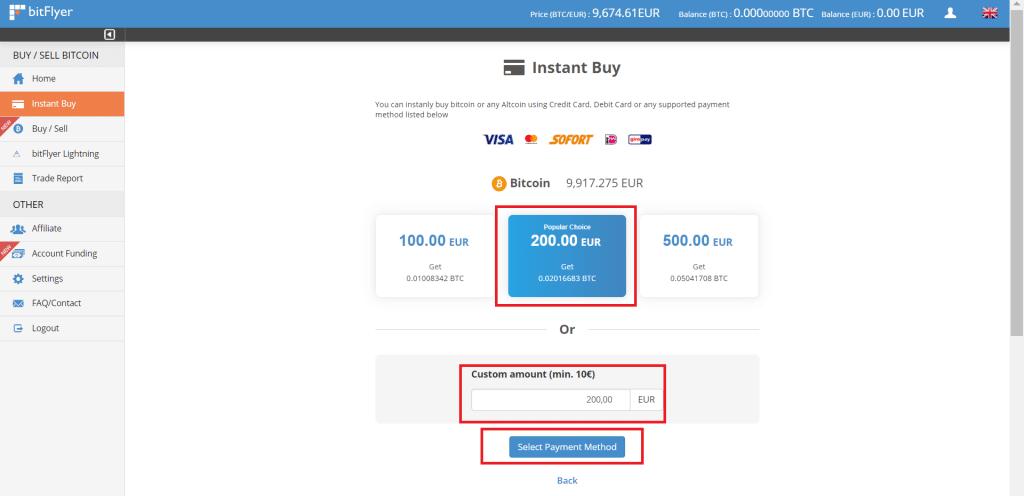 Bitflyer Bitcoin kaufen