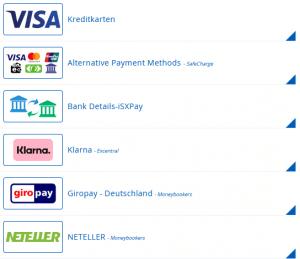 Bitsignal Einzahlung