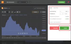 Libertex-Bitcoin-kaufen-Menü