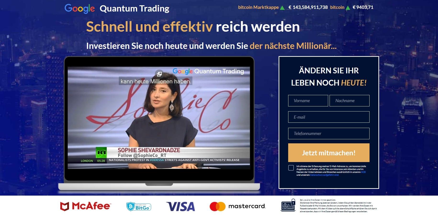 Quantum Trading Startseite