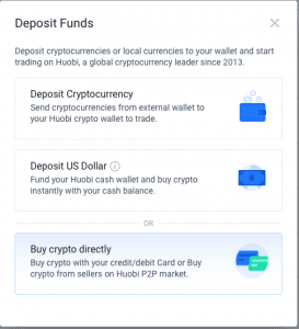 Huobi Einzahlung - Deposit