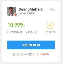 DeanMeffert eToro Trader kopieren