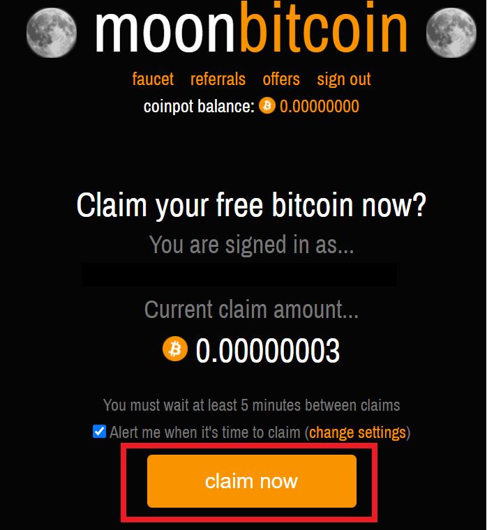 Moon Bitcoin Claim