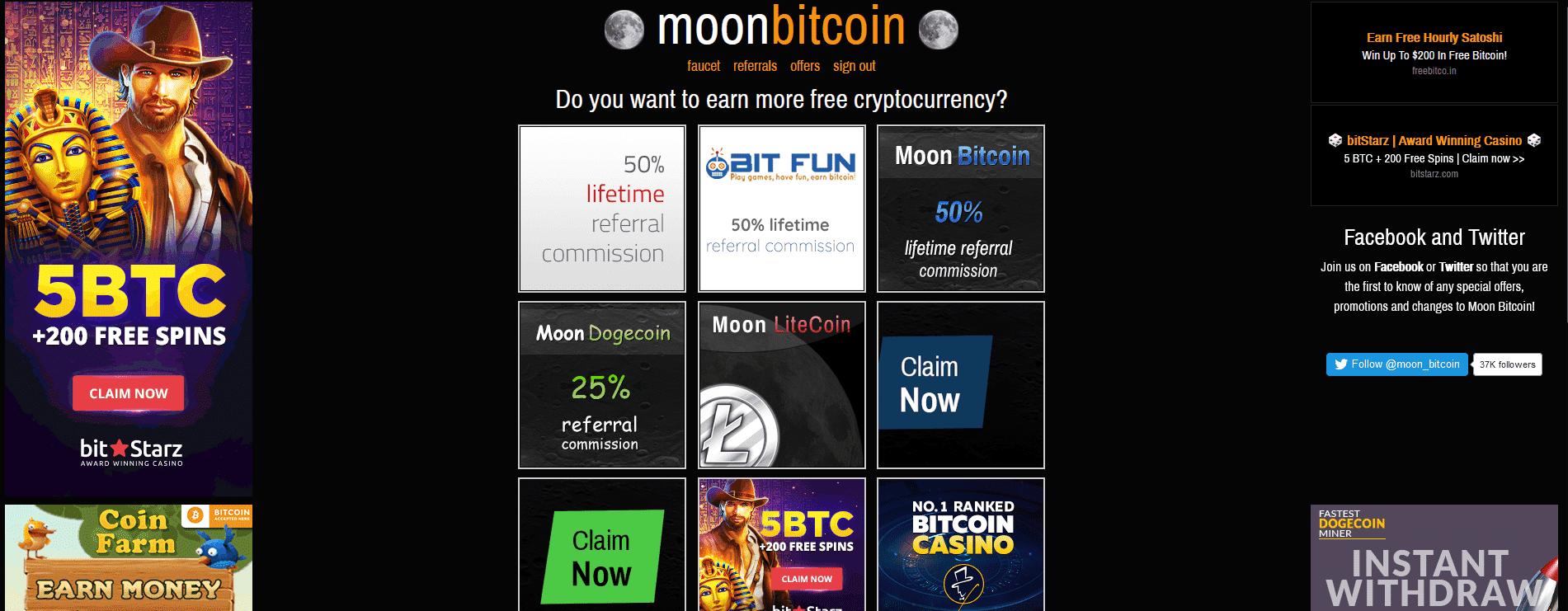 Moon Bitcoin Test