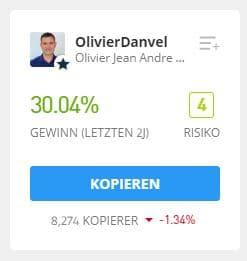 OlivierDanvel eToro Trader kopieren