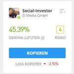 SocialInvestor eToro Trader kopieren