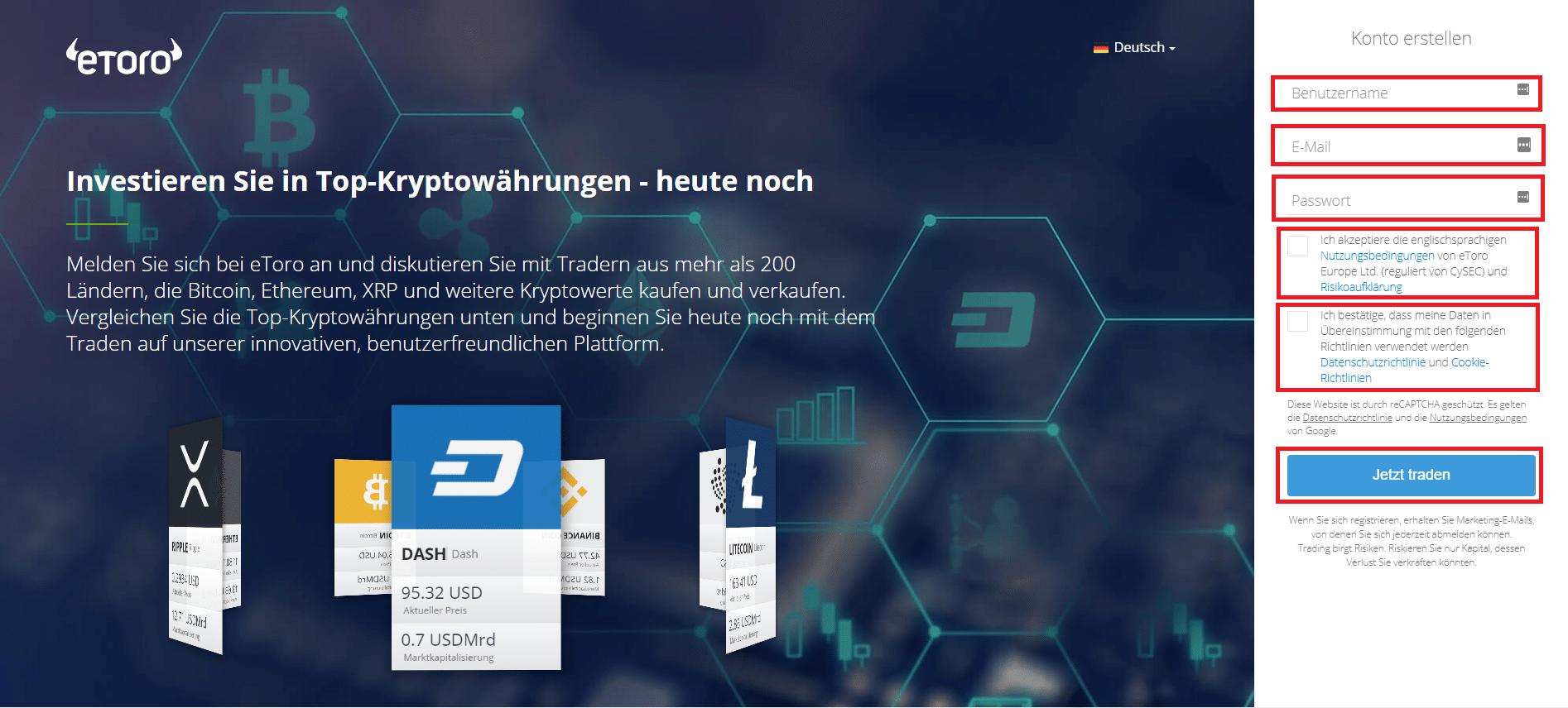 Bitcoin kaufen bei eToro