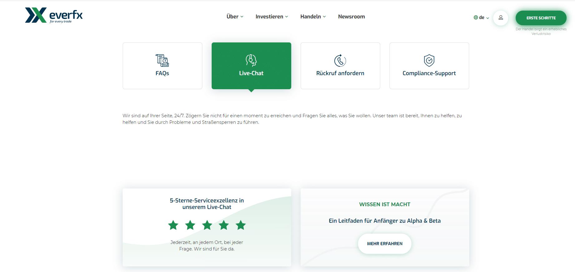 EverFX-Kundenservice