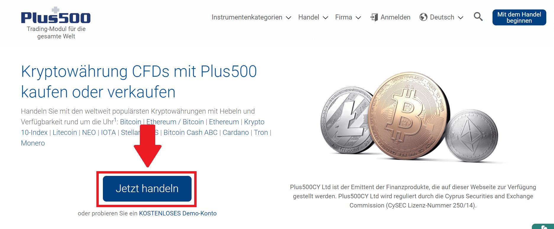 Plus500-Anmeldung