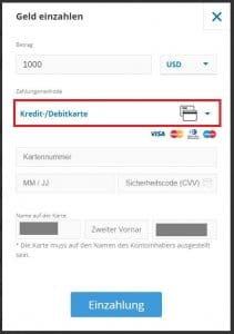Bitcoin mit Kreditkarte kaufen bei eToro