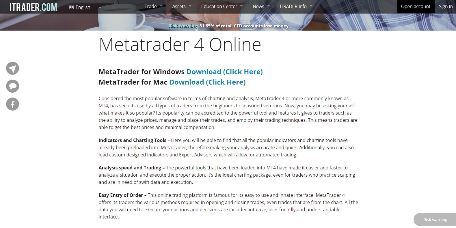 iTrader-Angebot-MetaTrader