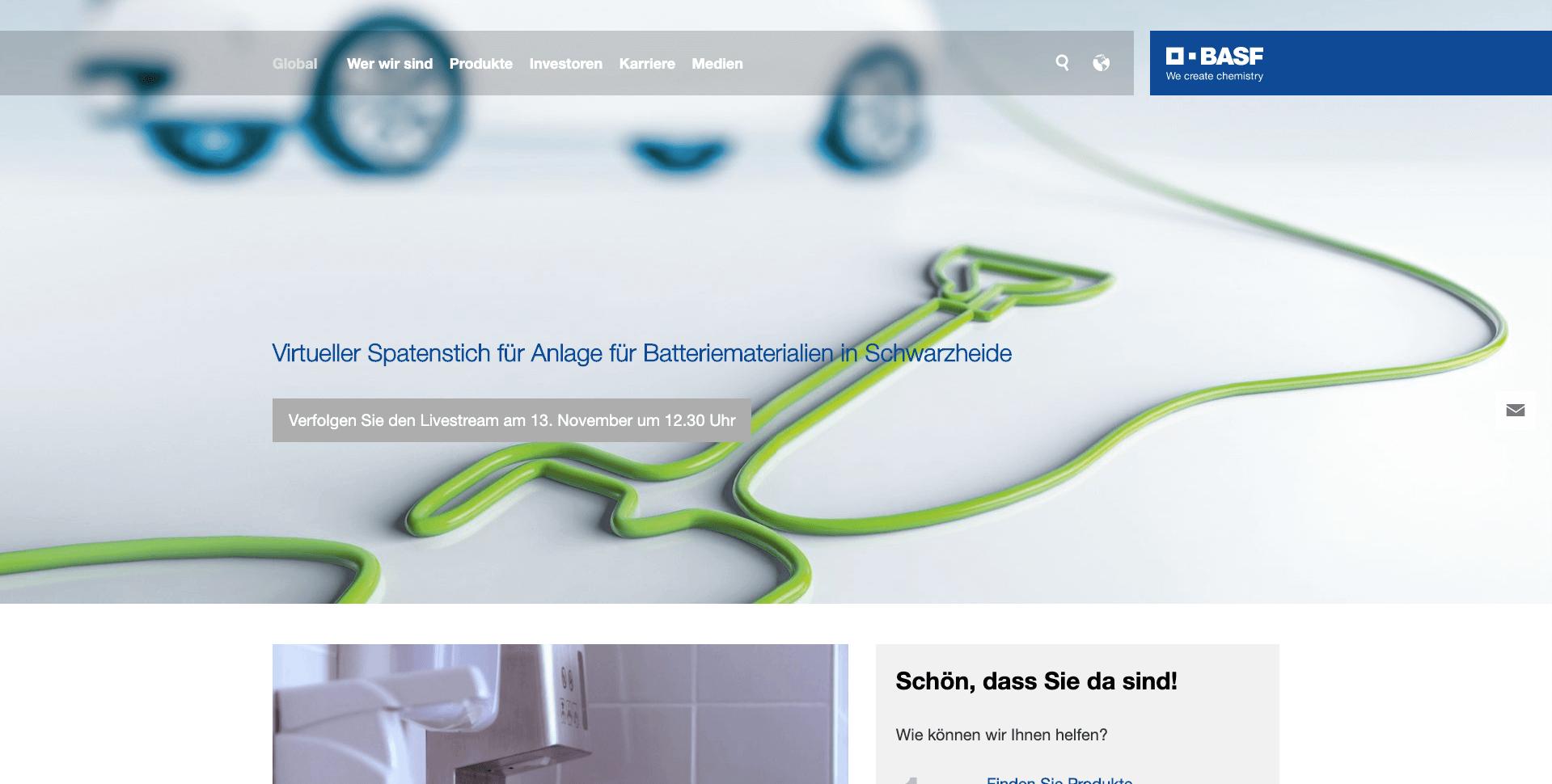 BASF-Website