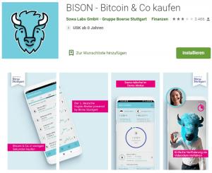 Bison App Anmeldung