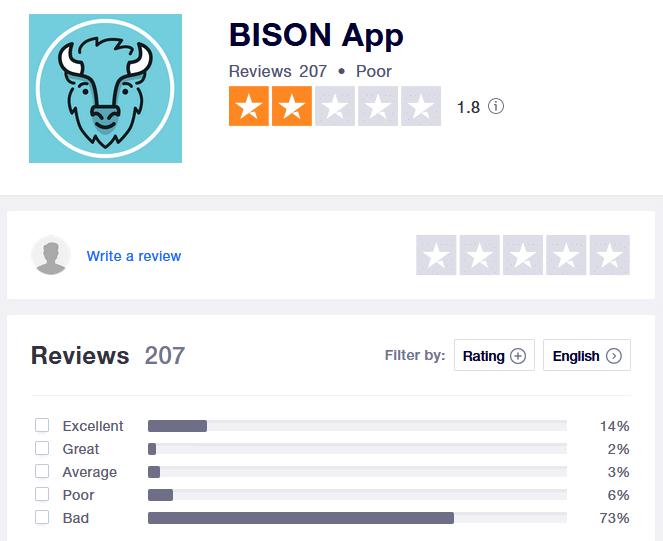 Bison App Bewertung
