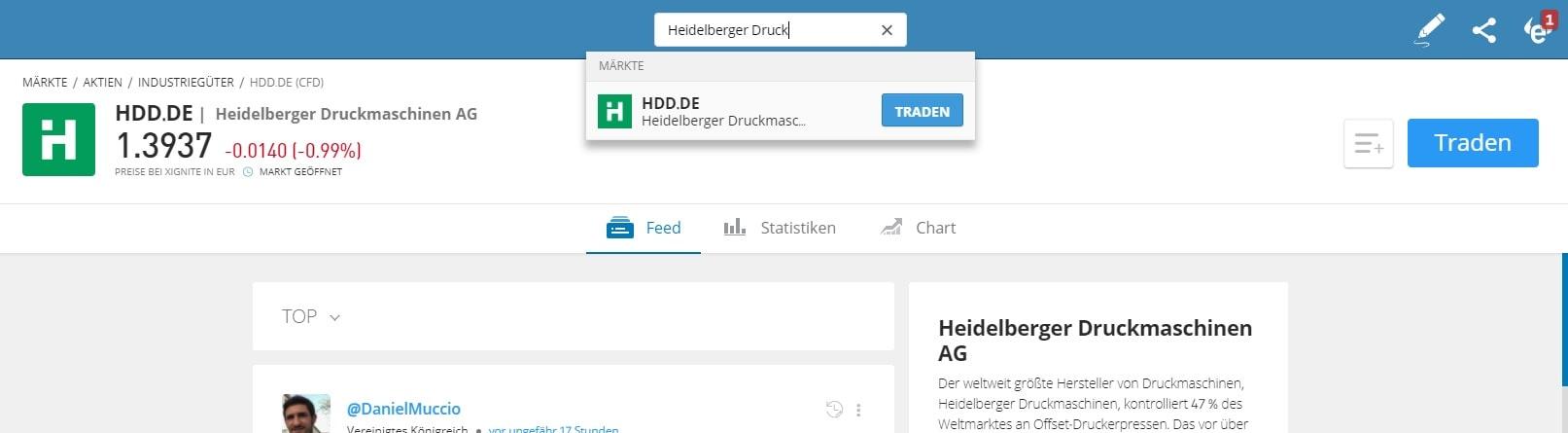Heidelberger Druckmaschinen Pennystock Kaufen