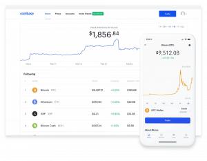 Coinbase Trading mit PC und Handy