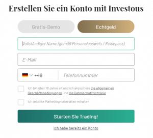 investous registrierung