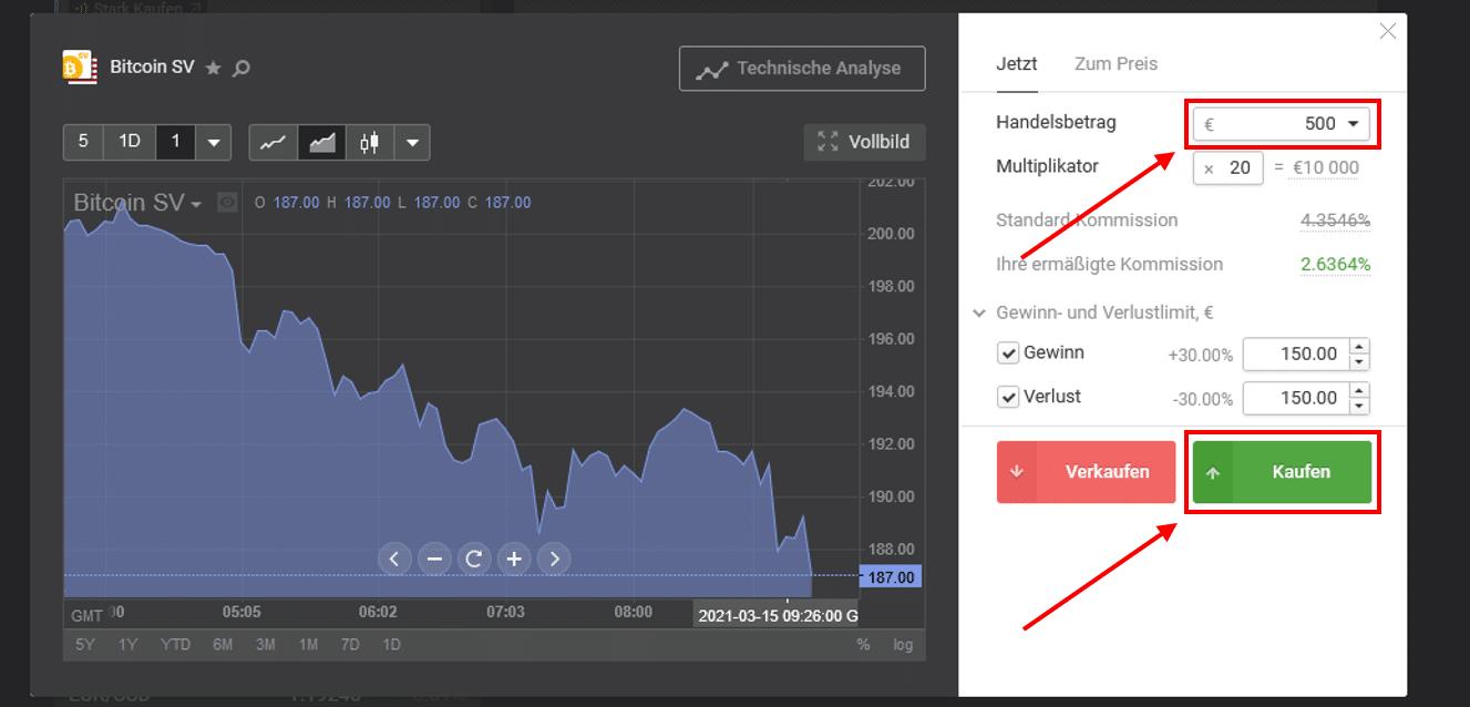 Bitcoin SV kaufen bei Libertex