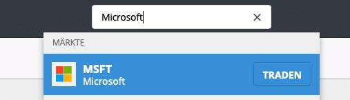 Microsoft Aktie suchen - etoro